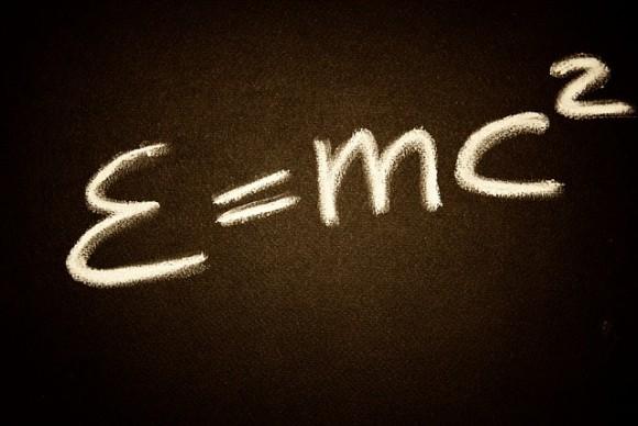 Fórmula matemática de Einstein en su forma más conocida