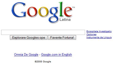 google latin