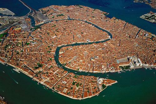 foto aérea venecia