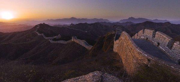 foto panorámica muralla china