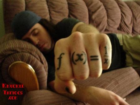 tatuaje formula matemática