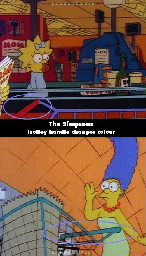 los errores de los simpson