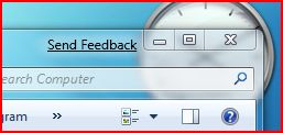 sendfeedback windows 7