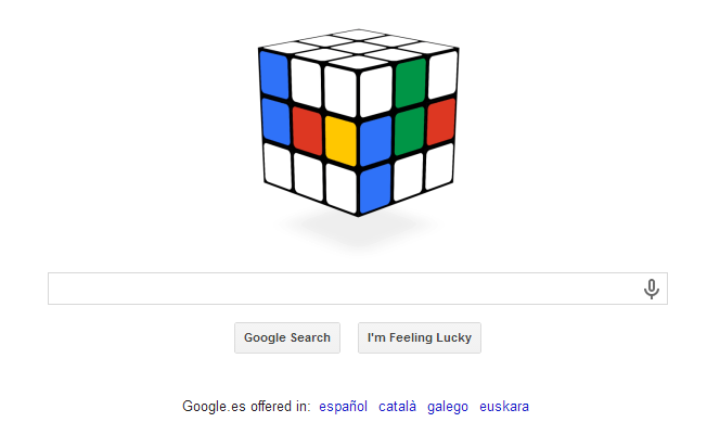 40 anos cubo rubik google