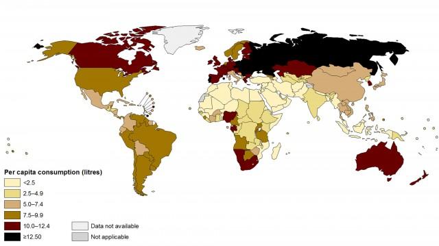 paises que mas beben