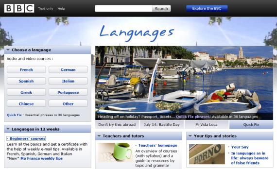 webs parender idiomas